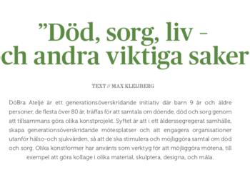 DöBra i tidskriften Palliativ Vård